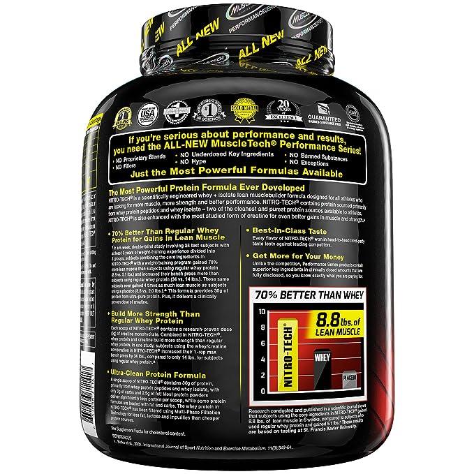 Muscletech Performance Series Nitro-Tech Banana Bliss - 1800 gr: Amazon.es: Salud y cuidado personal