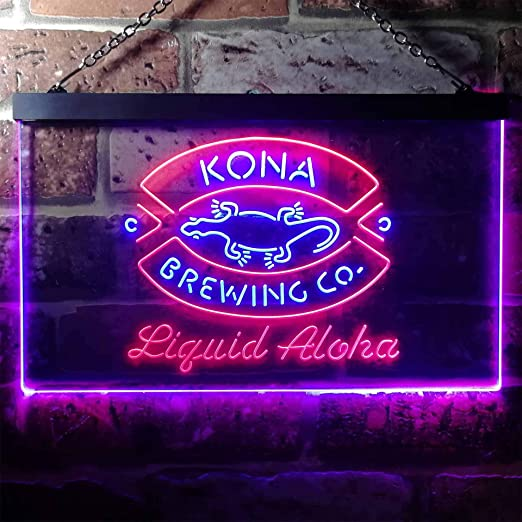 Amazon.com: zusme Kona Brewing Company - Cartel de neón con ...