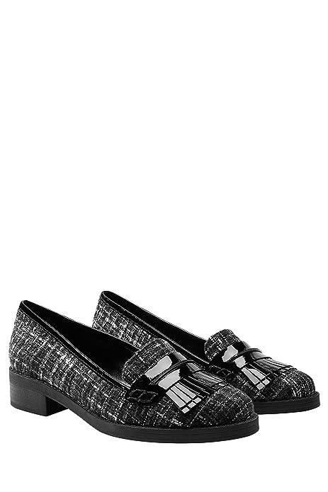 next Mujer Zapatos Zapatillas Estilo Mocasines Adorno De Flecos De Charol