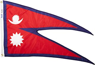 product image for Annin Flagmakers Model 195916 Nepal Flag Nylon SolarGuard NYL-Glo, 2x3 ft, 100% Made in USA to Official United Nations Design Specifications