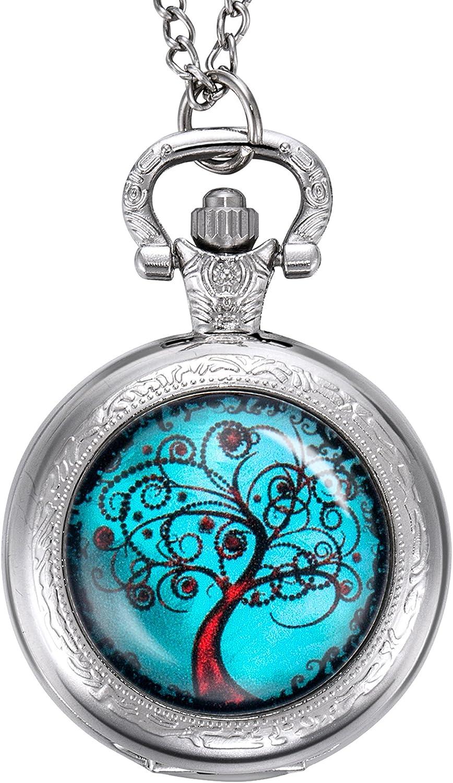 Reloj de Bolsillo de Árbol de Vida, Madre, Novia, Damas de Honor, Boda, Plateado