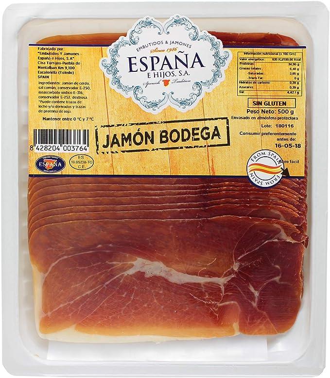 Barqueta Jamón Bodega 500g: Amazon.es: Alimentación y bebidas