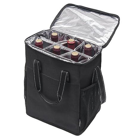 Amazon.com   Kato 6 Bottle Wine Carrier - Insulated Portable Wine ... cad7356f4e