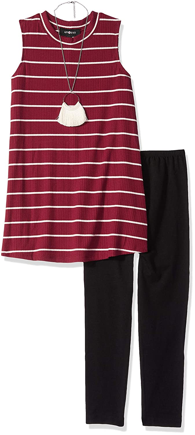 Amy Byer Girls Big Sleeveless Tunic and Legging Outfit Set