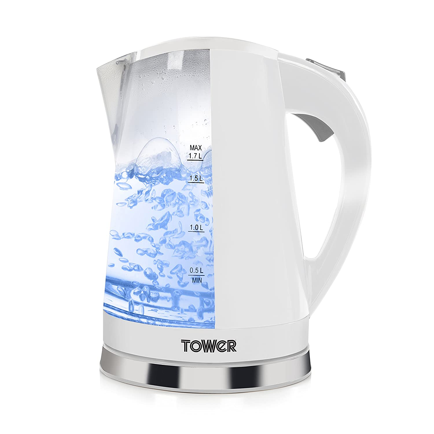 Tower LED Colour Changing Light Up Kettle 2200w 1.7 Litre In Black T10012