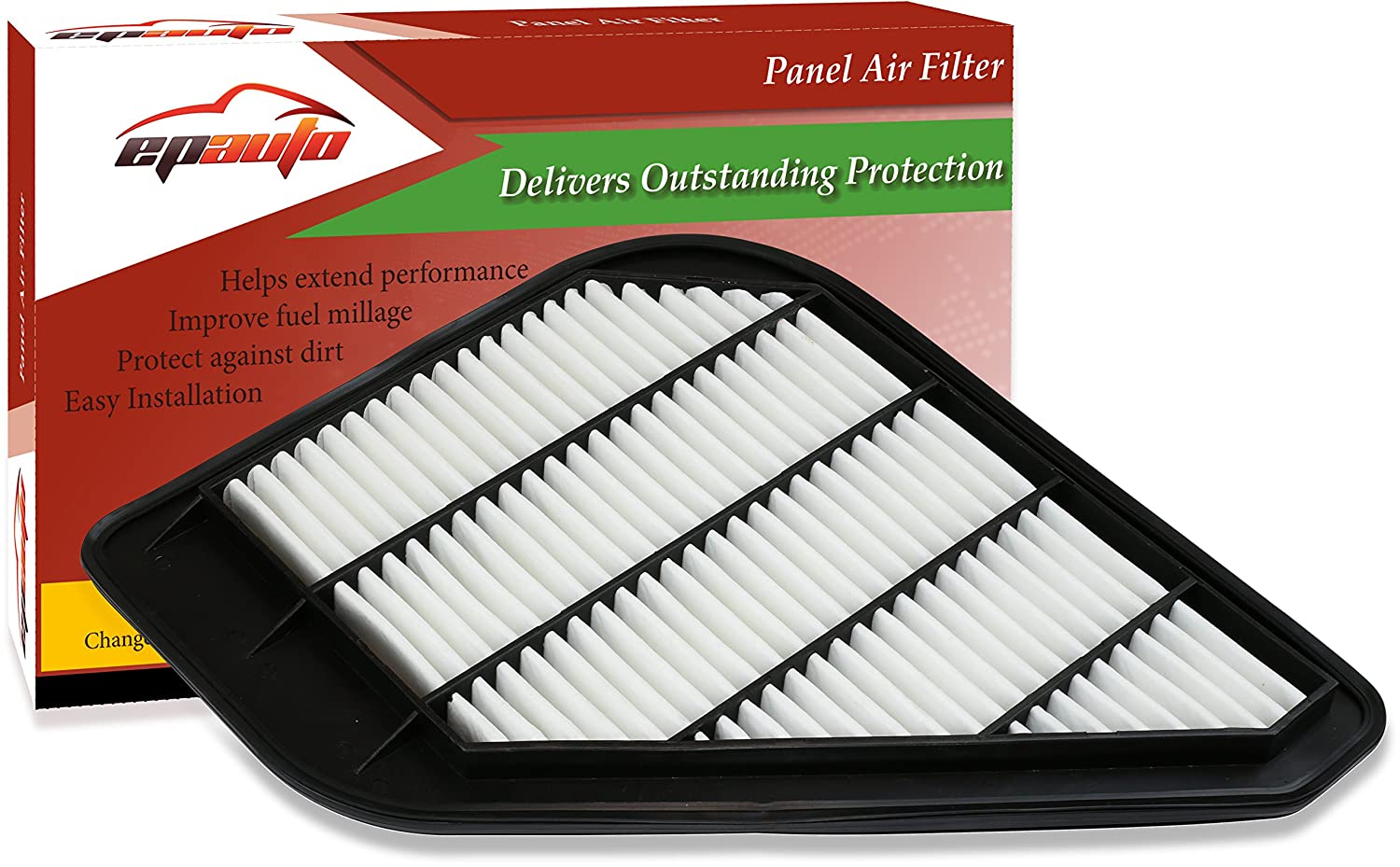 EPAuto GP110 (CA10110) Replacement for Chevrolet/GMC/Saturn/Buick Rigid Panel Engine Air Filter for Enclave (2008-2017), Traverse (2009-2017), Acadia (2007-2016), Outlook (2007-2010) FP-024-1