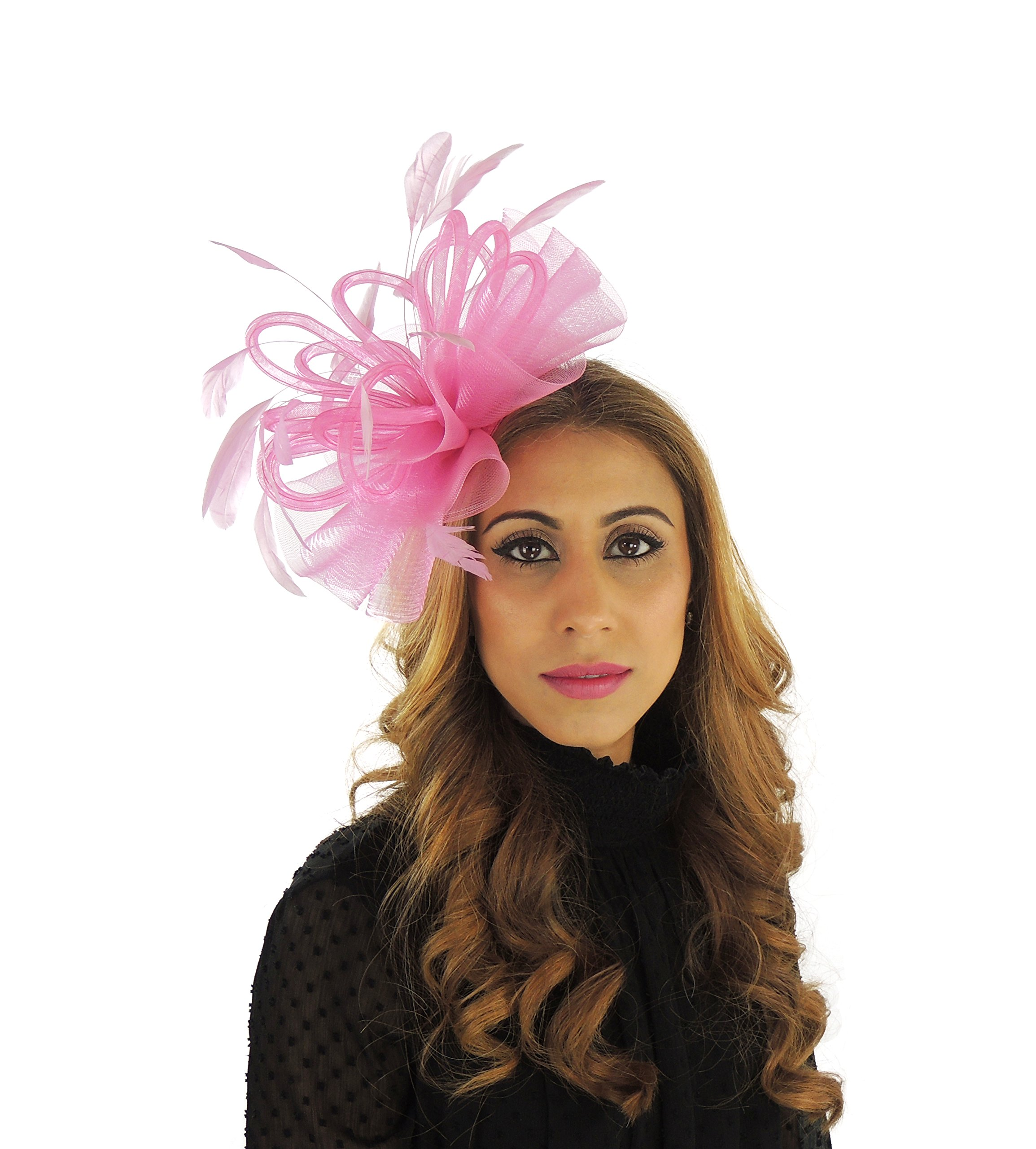 Hats By Cressida Ladies Wedding Races Ascot Derby Fascinator Headband Hot Pink by Hats By Cressida