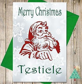 Lustige/unhöfliche / witzige Weihnachtskarte – Frohe Weihnachten ...