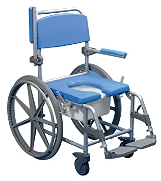 Days Deluxe Blue Self Propelled Wheeled Shower Commode Chair ...