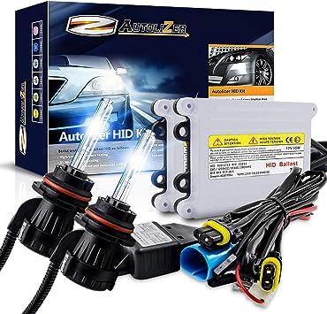 Autolizer 55W Xenon HID Lights 9005 9055 H12-10000K Deep Blue