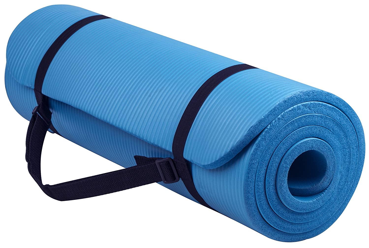 BalanceFrom GoYoga All-Purpose 1/2-Inch Extra Thick High Density Anti-Tear Exercise Yoga Mat with Carrying Strap