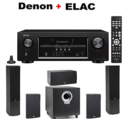 DENON AVR S530BT ELAC B5 Bookshelf Speakers Pair Of