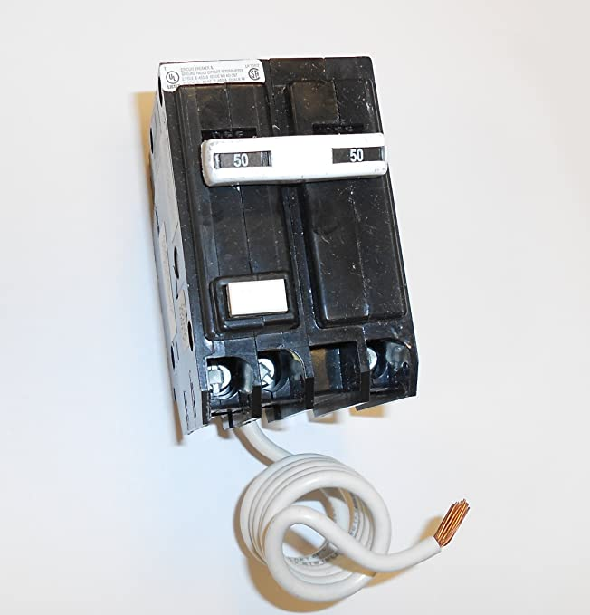 GE THQL2150GFT Plug-In Mount Type THQL Feeder Self-Test Ground Fault Circuit Interrupter 2-Pole 50 Amp 120/240 Volt AC
