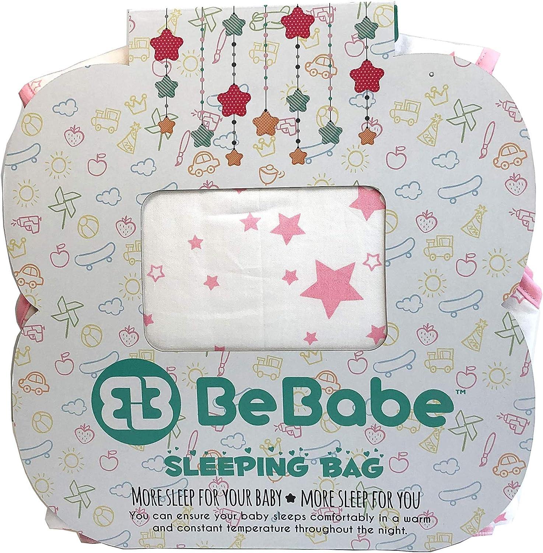 couverture demmaillotage alternative pour berceaux et voyages Rose scintillant 1 Tog 0-6 Months fermeture /éclair /à double sens Be Babe Gigoteuse pour nouveau-n/é b/éb/é fille