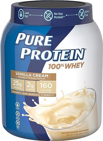 Pure Protein 100{1f2d6db44b409c105db5a62b982efd477aadb841b4e9a191719a8d02eb0fdb65} Whey