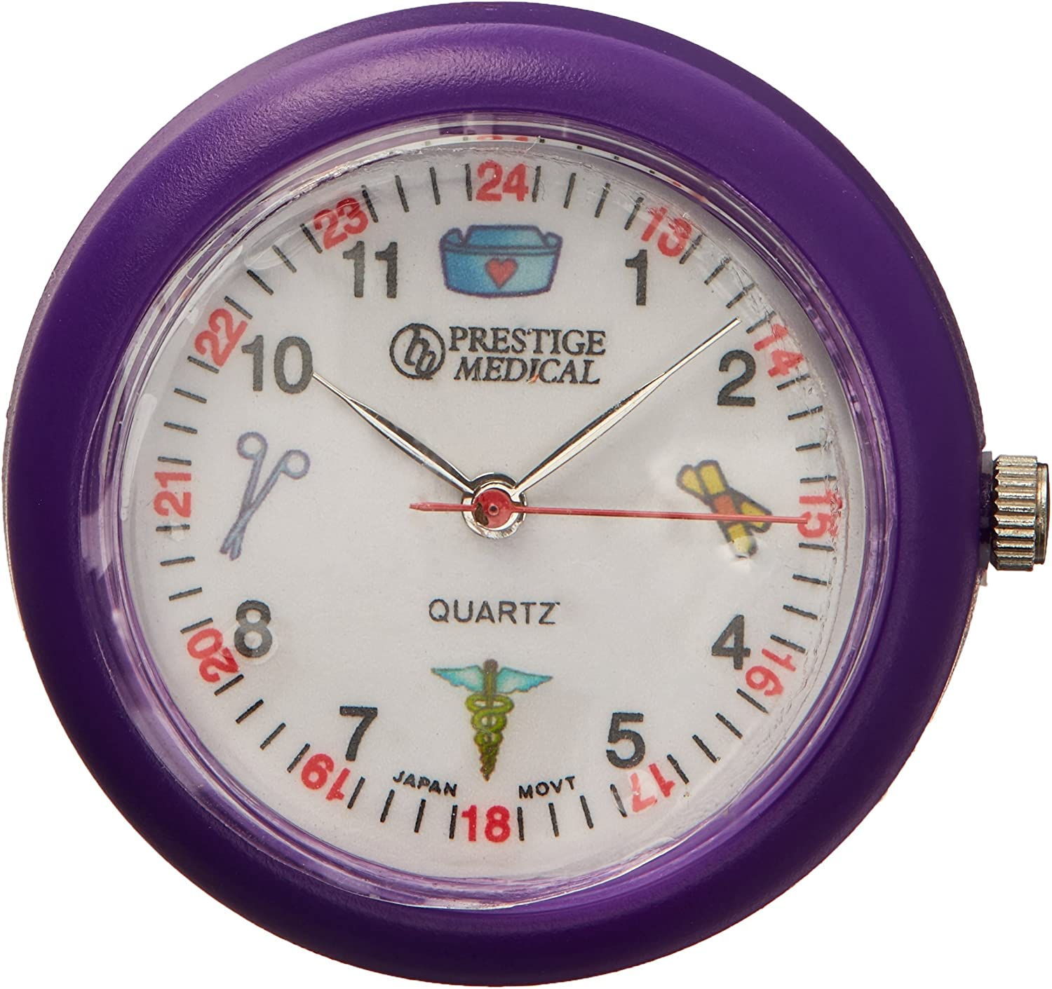 Prestige Medical Symbols Stethoscope Watch, Purple
