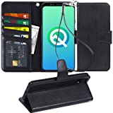 Arae Wallet Case for Google Pixel 4 XL PU Leather flip case Cover [Stand Feature] with Wrist Strap and [4-Slots] ID&Credit Ca