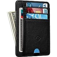 Smal minimalistisk framficka plånbok, FINTIE RFID-blockering kreditkortshållare kortfodral med ID-fönster för män…