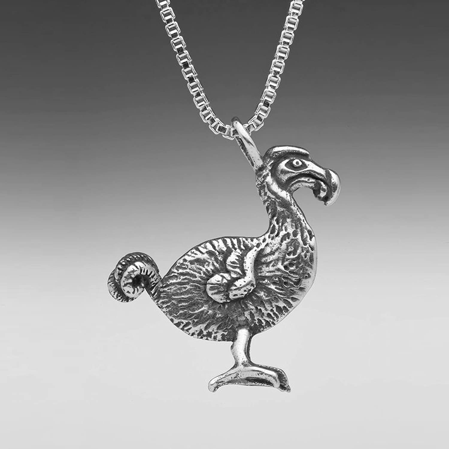 tiny necklace bird sterling silver pin