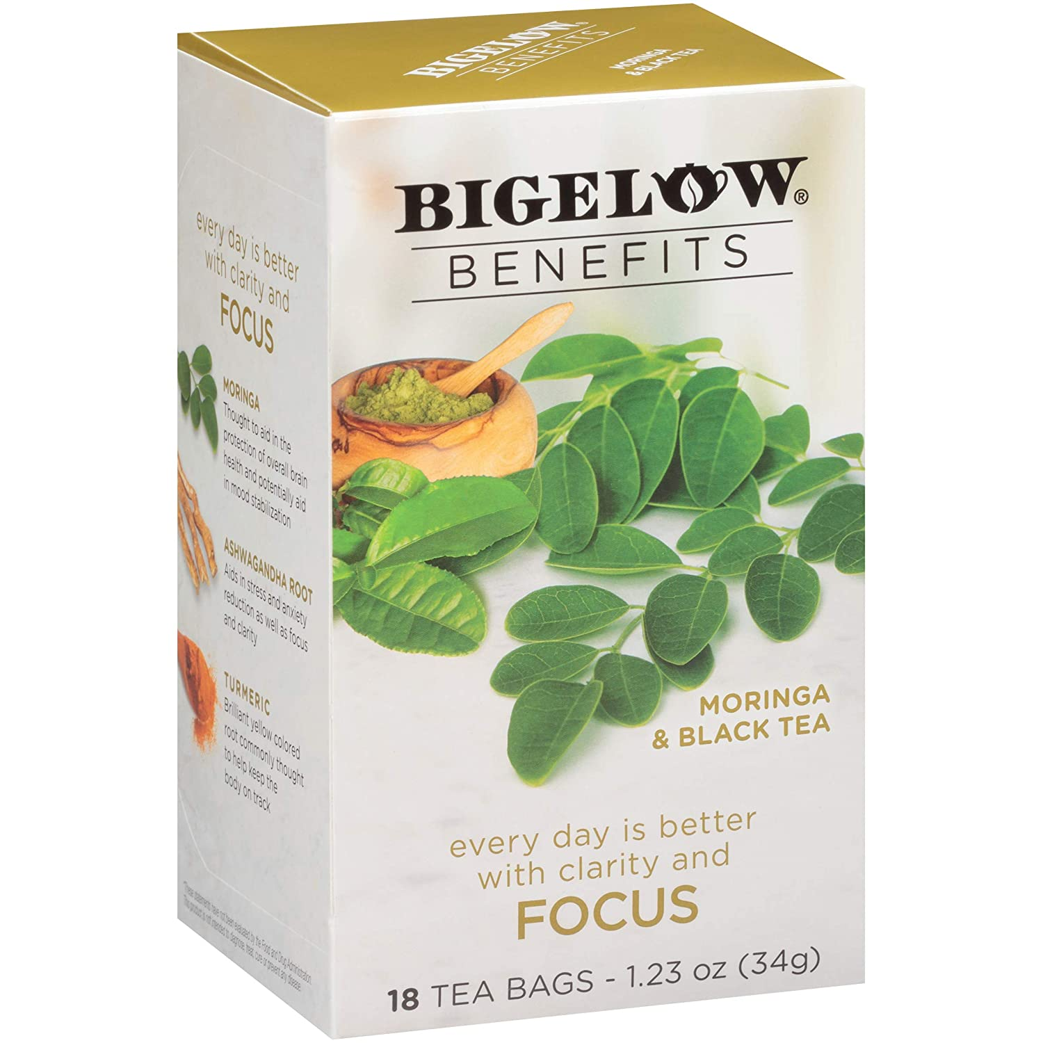 Bigelow Benefits Moringa & Black Tea, 18 Count