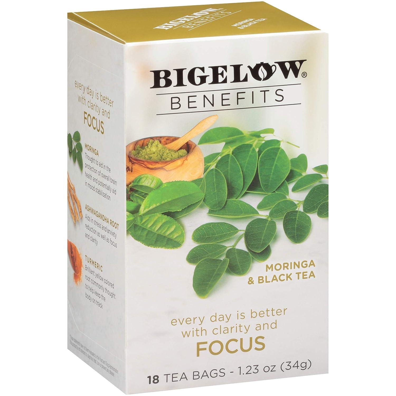 Bigelow Benefits Moringa & Black Tea, 18 Count