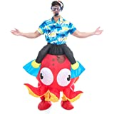 Spooktacular Creations Inflatable Ride an Octopus Air Blow-up Deluxe Halloween Costume - Adult Size