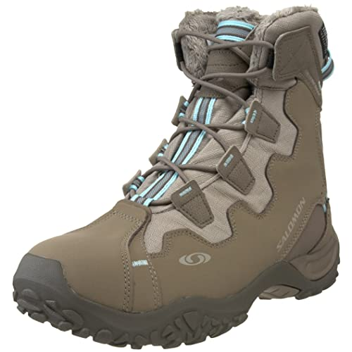 Salomon Womens Snowtrip TS Waterproof Winter Shoe,Thyme/Majoram/Aqua Tint,10.5