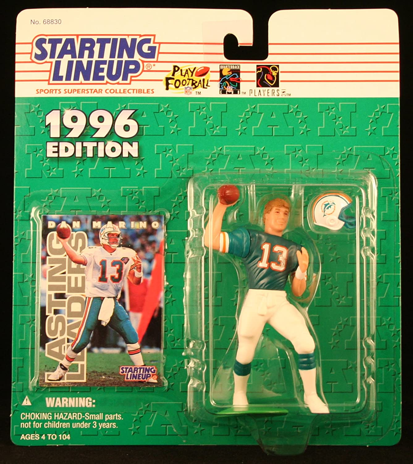 1996 NFL Starting Lineup - Dan Marino - Miami Dolphins by Hasbro / Kenner 67771