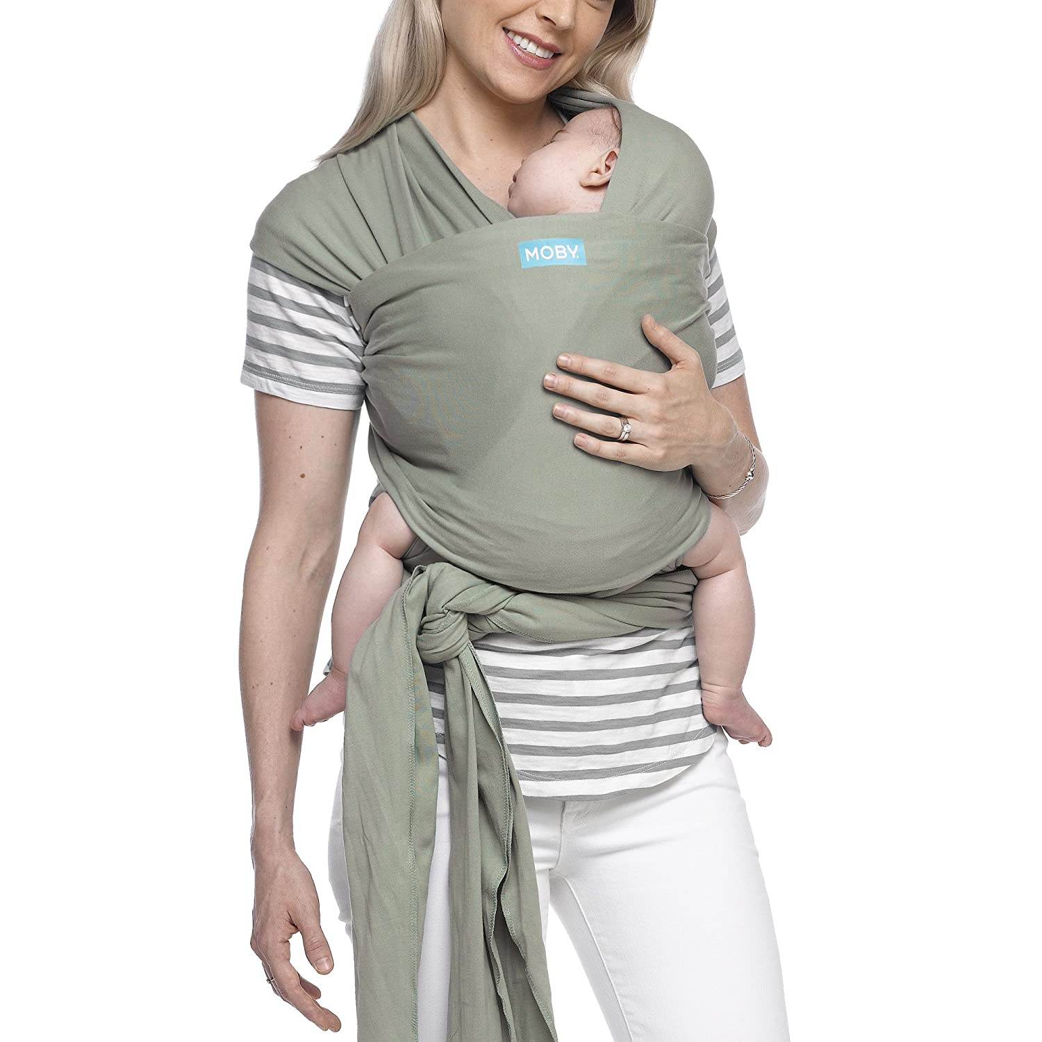 Moby Classic Baby Wrap for Parents On The Go   Ideal for Baby Wearing & Breastfeeding   Pear   Compatible for Newborns, Infants, and Toddlers