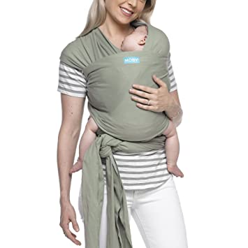 56763fa3940 Moby Classic Baby Wrap (Pear) - Baby Wearing Wrap for Parents On The Go