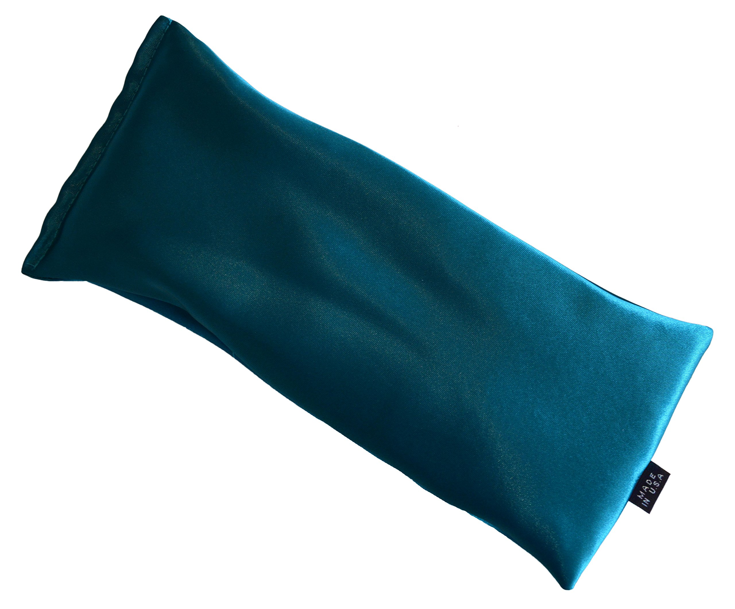 Blissful Being Silk Flax Seed Lavender scented Microwavable Eye Pillow, Aqua by Blissful Being (Image #2)