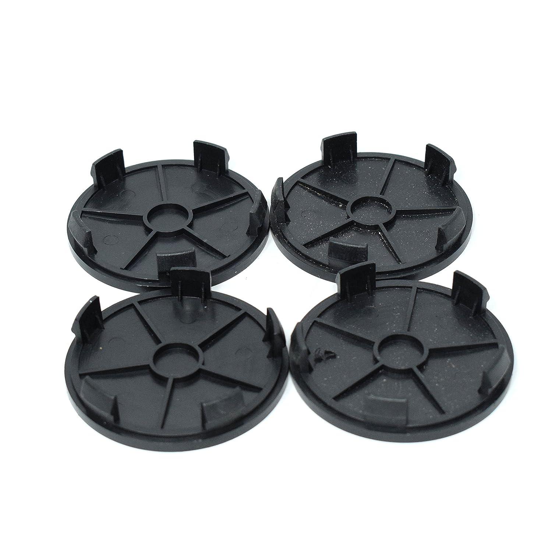 Promo Link Lot de 4 Cache-moyeux pour Jantes 68 mm//65 mm Noir