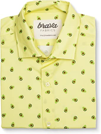 Brava Fabrics - Camisa Hombre Manga Corta Estampada - Camisa ...