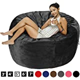 AmazonBasics Memory Foam Filled Bean Bag Chair with Microfiber Cover - 5', Gray