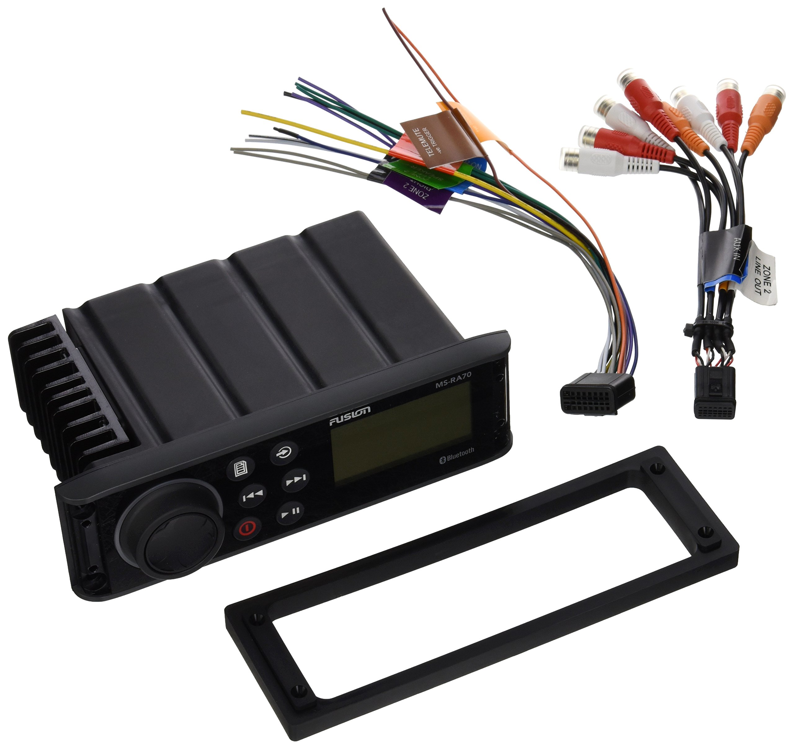 Fusion MS-RA70I Stereo with 4x50W AM/FM/Bluetooth 2-Zone USB Wireless Control Link App