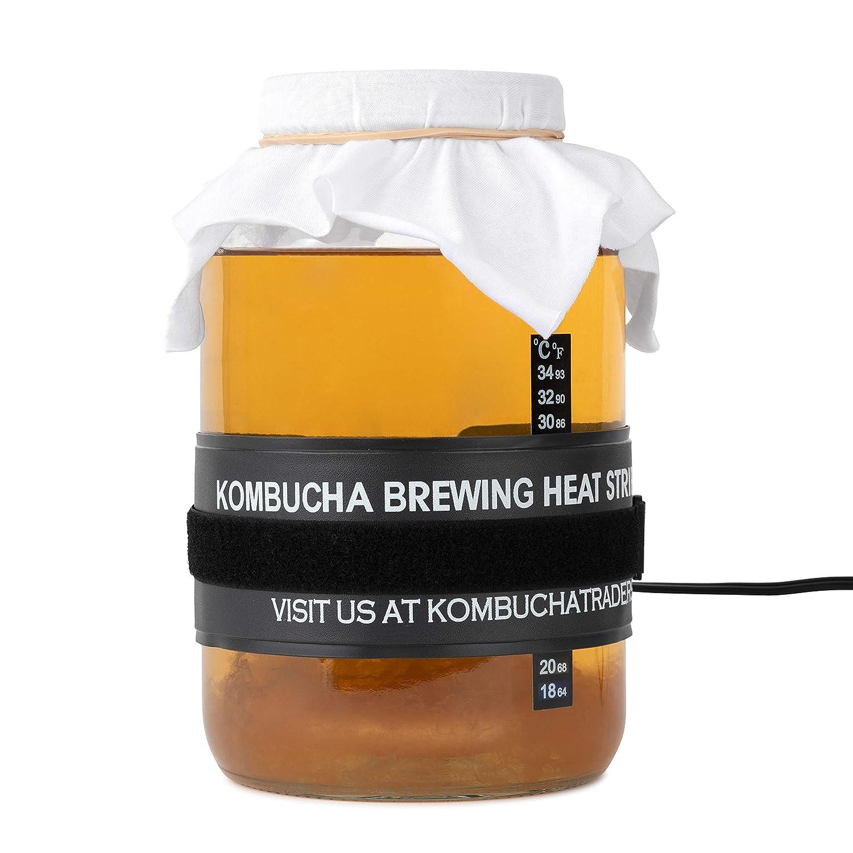 "2 Pack - kitchentoolz Waterproof Seedling Heat Mat Hydroponic Warm Heating Wrap 3"" x 20"" for Kombucha Brewing, Beer Brewing, Fermentation, Seedlings & Plant Germination (2 Pack, 3"" x 20"")"