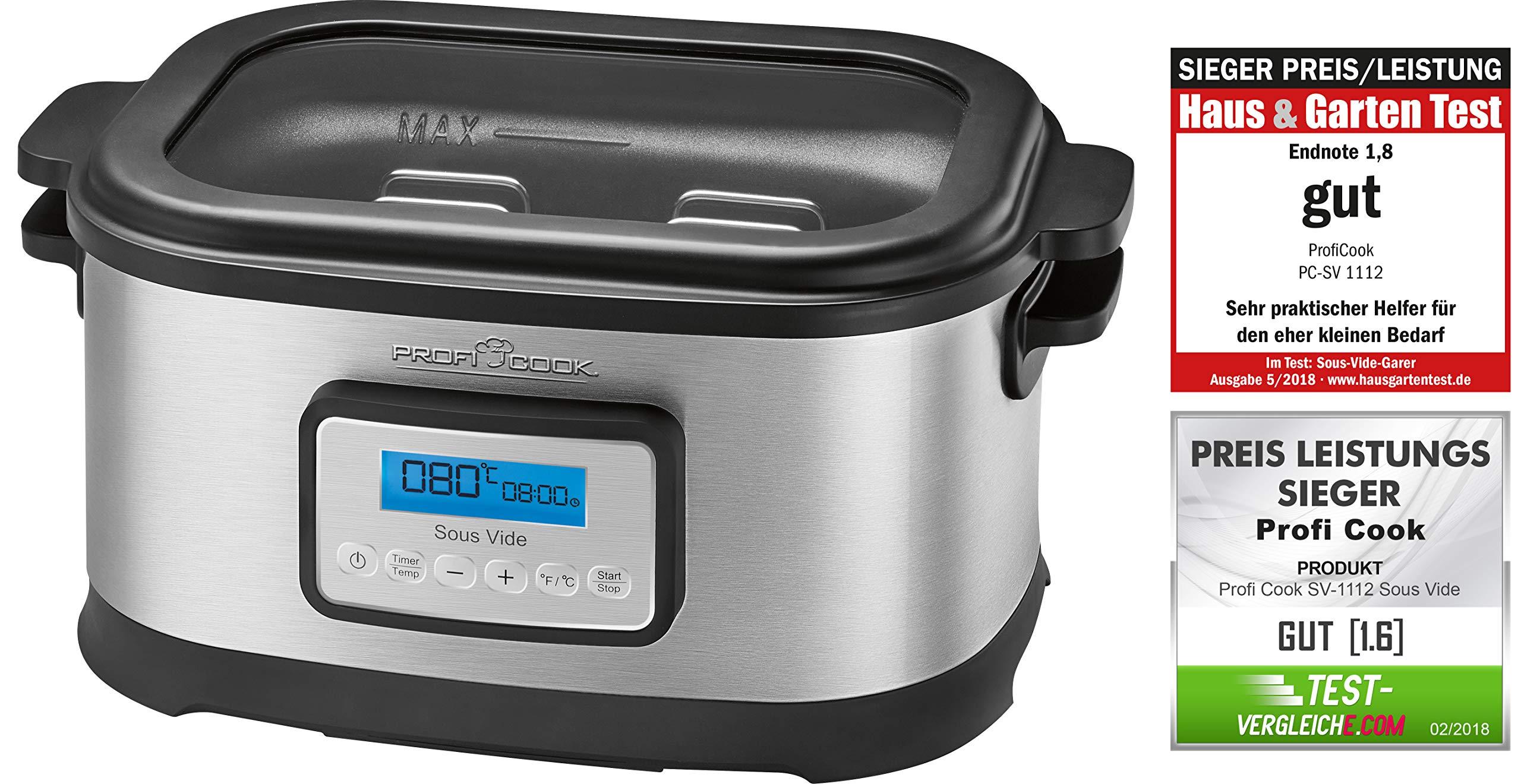 ProfiCook Sous Vide Olla cocción lenta y cocina al vacío para cocinar a bajas temperaturas,