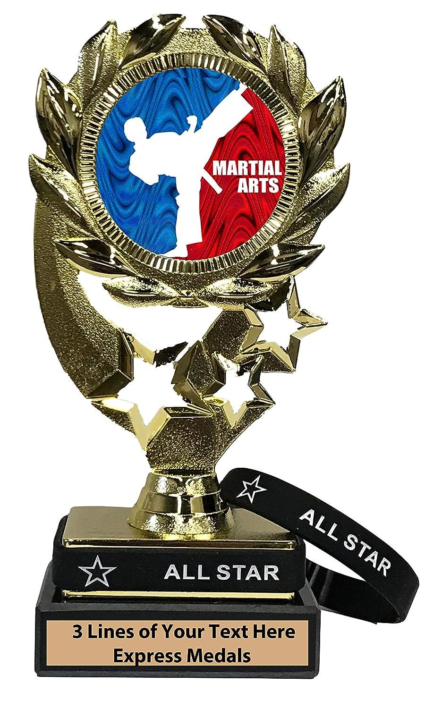 Express Medals マーシャルアーツ トロフィー 取り外し可能 装着可能 オールスターリストバンド マーブルベース カスタマイズ可 B07KM6PLJ2