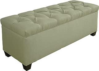 product image for MJL Furniture Designs Sole Secret Duo Shoe And Linen Storage Bench Seafoam