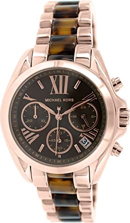 d74cad1e13b Image Unavailable. Image not available for. Color  Michael Kors Women s  Bradshaw Rose Gold