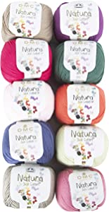 10 Skein DMC Natura Just Cotton Yarn, Assorted Colors Yarn Version 2