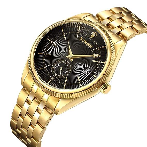 903784a3de2 Watches Men Luxury Brand Men Sports Watches Waterproof Full Steel Quartz  Men s Gold Black Watch