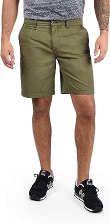 !Solid Thement Chino Pantalón Corto Bermuda Pantalones De Tela para Hombre De 100% algodón Regular-Fit