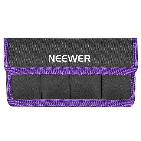 Neewer Funda de Batería de DSLR Soporte de Batería AA y lp-e6 lp-e8 lp-e10 lp-e12 en-el14 en-el15 fw50 f550 y Más, Adecuado para Batería de Nikon D800 ...