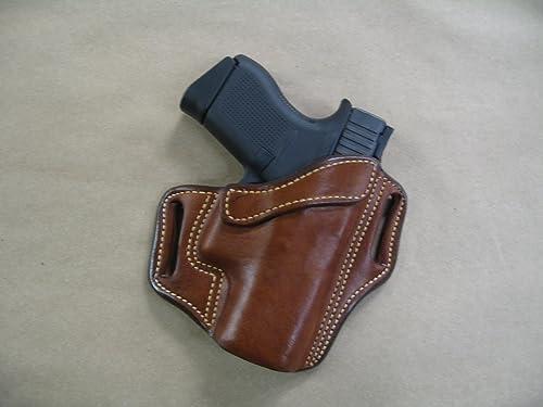 Azula OWB Leather 2 Slot Molded Pancake Belt Holster for Glock 43 & 43X