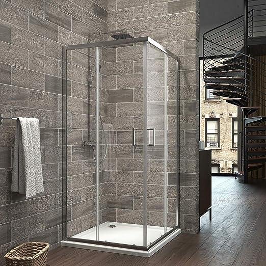 Puerta Doble düravak Mampara de ducha esquina. Puerta Doble Cristal 80 x 80 x 185 cm: Amazon.es: Bricolaje y herramientas