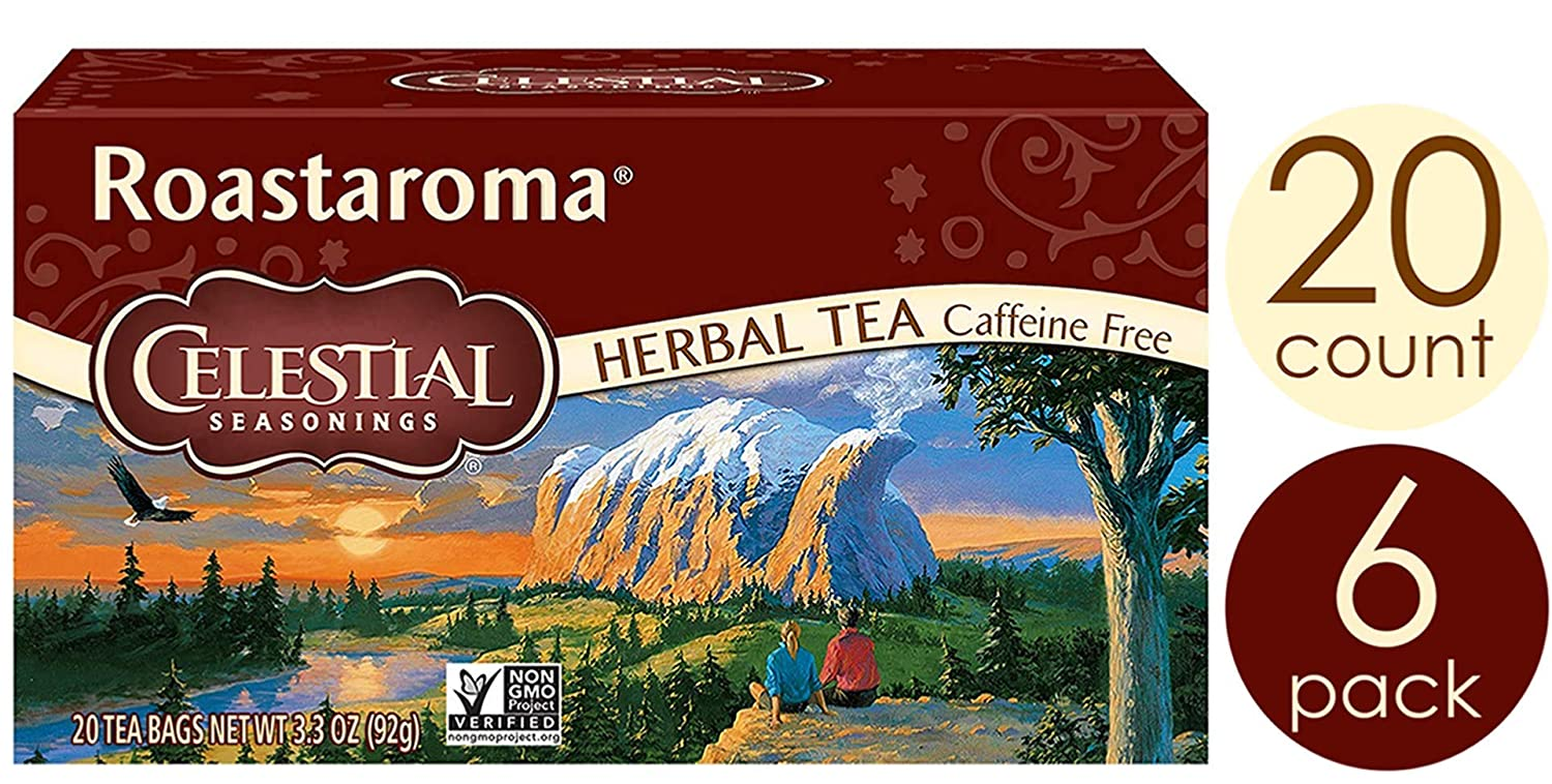 Celestial Seasonings Herbal Tea, Roastaroma, 20 Count (Pack of 6)