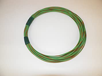 12 GXL 25 feet coil LIGHT green Abrasion-Resistant General Wire