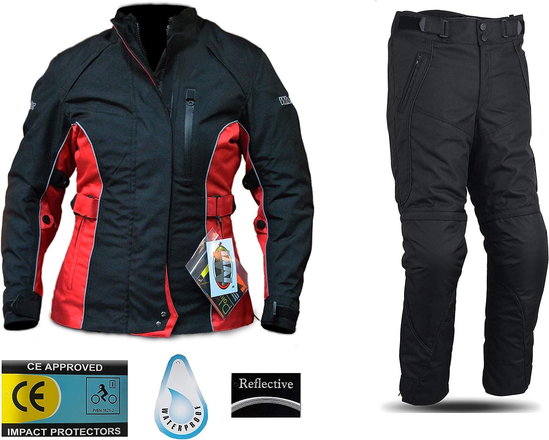 M WinNet Completo tuta moto in cordura giacca e pantaloni per turismo