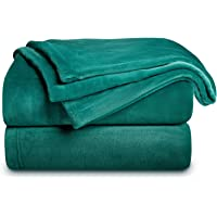 Bedsure Emerald Green Throw Blanket Flannel Fleece - Lightweight Blanket for Sofa, Couch Super Soft Cozy Microfiber…